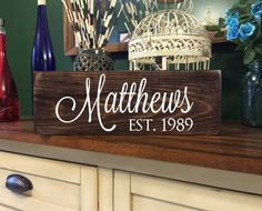 This Rustic Wood Personalized Family Last Name Sign is an item that is great Home Decor and wonderful for Bridal Showers, Weddings, Anniversary,