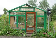 Make your own green house with recycled material