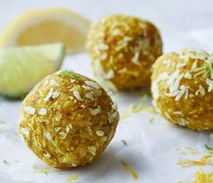 Wake up with these coconut-lime energy balls, or pack them for the perfect afternoon pick-me-up.