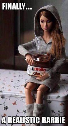 Broken up barbie