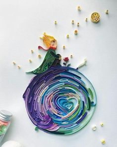 Little Prince paper quilling 3d Quilling, Paper Quilling Patterns, Quilled Paper Art, Quilling Paper Craft, Paper Crafts, Quilling Flowers Tutorial, Quiling Paper, Singapore Art, Quilled Creations