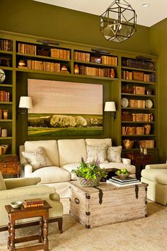 Custom Home Library | Southern Living Idea House | Castle Homes Custom Home Builder