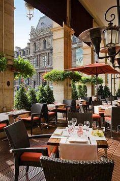 Café in Hotel du Louvre, Paris, France