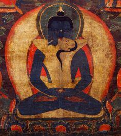 Samantabhadra & Samantabhadri (detail) Tibet, circa. 1600 - 1699  Nyingma and Kagyu Lineages