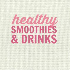 Healthy Smoothie Recipes and Delicious Healthy Drink Recipes - low fat, gluten free, paleo, high protein, low carb, sugar free, clean eating friendly, vegan and more! Smoothie Drinks, Healthy Smoothies, Healthy Drinks, Smoothie Recipes, Healthy Recipes, High Protein, Drink Recipes, Free Food, Sugar Free