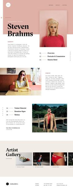 Goldteeth & CO & Ui Design concept for photographer portfolios by Marko Cvijetic. & The post Goldteeth & CO & Ui Design concept for photographer portfolios by Marko Cvijetic. & appeared first on Design. Layout Design, Layout Web, Design De Configuration, Graphisches Design, Logo Design, Branding Design, Design Concepts, Email Layout, Artist Branding