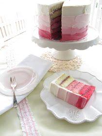 my button cake: incredibly pink vanilla jam layer cake