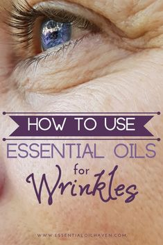 Top 5 essential oils for wrinkles and why they work! Also: which carrier oil is best to use for deep wrinkles? Find out here how to use oils for wrinkles. Essential Oils For Face, Clary Sage Essential Oil, Essential Oils For Headaches, Frankincense Essential Oil, Rose Essential Oil, Essential Oil Blends, Face Wrinkles, Best Oils, Number