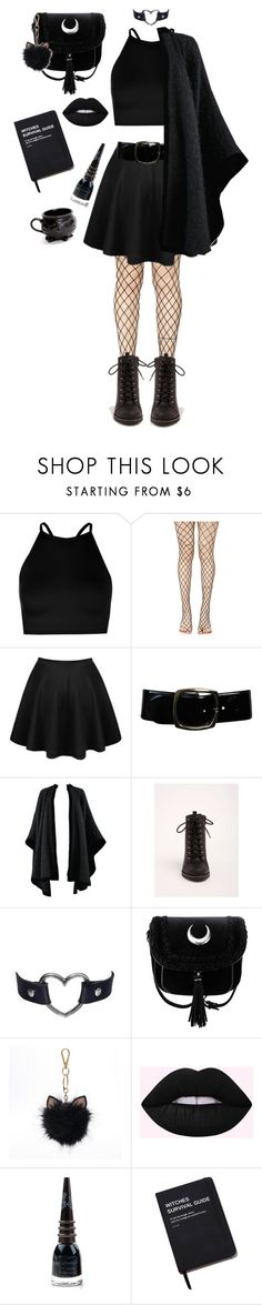 """""""it's time to get spooky 🕷🕸"""" by queen-leo-1999 ❤ liked on Polyvore featuring Boohoo, Leg Avenue, Chanel, Yves Saint Laurent, Torrid, LC Lauren Conrad, Manic Panic NYC and Killstar"""