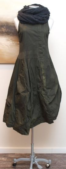 stilecht - mode für frauen mit format... - rundholz dip - Ballonkleid Cotton Stretch frog - Winter 2014