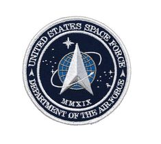 The United States Space Force (USSF) is the space warfare service branch of the U.S. Armed Forces, and is one of the eight U.S. uniformed services. The sixth and youngest branch of the U.S. Armed Forces, it was the first branch of the military established since the formation of the independent U.S. Air Force in 1947. The direct antecedent of the Space Force, Air Force Space Command, was formed on 1 September 1982 with responsibility for space warfare operations. The National Defense Authorizatio Air Force Space Command, Space Warfare, Free Artwork, Military Branches, Air Space, Custom Patches, Military Service, Us Air Force, Armed Forces