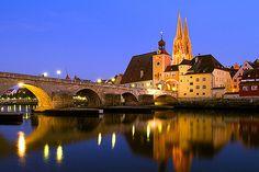 Regensberg and Medieval Bridge in Germany