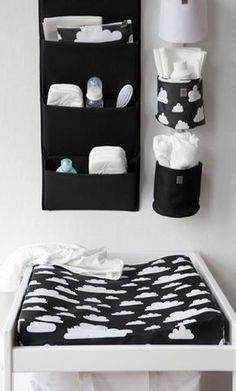 How to choose best changing table for baby Changing tables for your baby\'s nursery may not be the first thing on your list to purchase, but after the crib, it will be the most used furniture in the room. Baby Boy Rooms, Baby Bedroom, Baby Boy Nurseries, Baby Room Decor, Kids Bedroom, Room Baby, Nursery Room, Black White Nursery, Black And White Baby