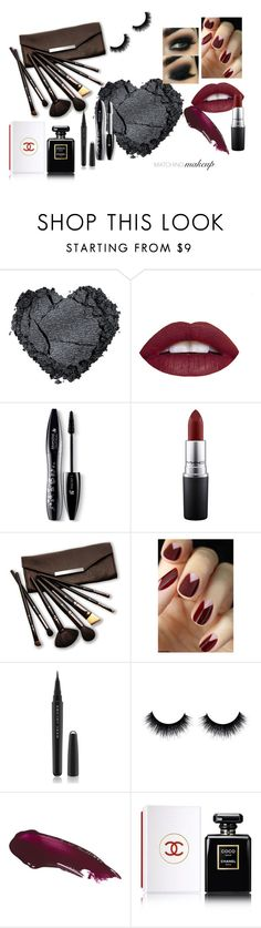 """""""matching makeup"""" by samaramahone1d ❤ liked on Polyvore featuring beauty, Lancôme, MAC Cosmetics, Borghese, Marc Jacobs and Chanel"""