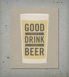 Good Beer Wood Block Art