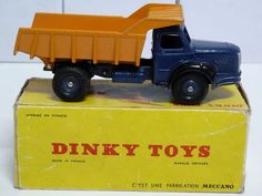 FRENCH DINKY TOYS NO.34a BERLIET BENNE CARRIERES, TIPPER