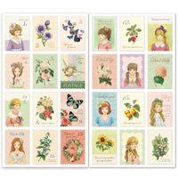 Lovely Girl Stamp Sticker