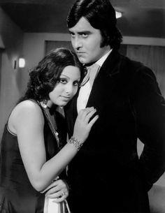 Neetu Singh and Vinod Khanna. Neetu Singh, Vinod Khanna, Vintage Bollywood, Amitabh Bachchan, Indian Movies, Old World Charm, Glamour Photography, Bollywood Stars, Celebs
