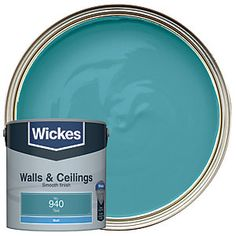 Emulsion paint with excellent opacity and a smooth, hard-wearing, wipeable finish for walls and ceilings in all interior rooms. Living Room Accents, Cleaning Equipment, Order Up, Interior Walls, Green Colors, Home Improvement, Teal, How To Apply, Ceilings
