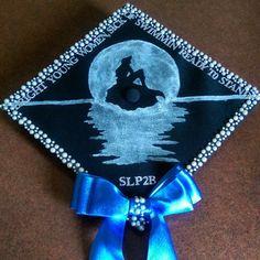 Little mermaid graduation cap