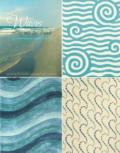 Catch an ocean wave with a rug: http://www.completely-coastal.com/2015/09/ocean-wave-decor-rugs-pillows-bedding-signs.html