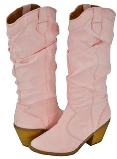 Qupid ~   Qupid Muse-01Xx Pink Faux Suede Women Cowboy Boots ~   4.3 out of 5 stars ~  48 customer ratings for the brand Qupid ~ Price:	$45.99