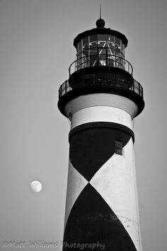 Cape Lookout Lighthouse on the Outer Banks of North Carolina.