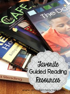 Favorite Guided Reading Resources. Found on amodernteacher.com