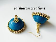paper quilling jhumkas by papersandpassions on Etsy