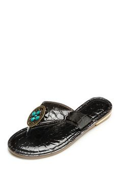 Danann Chocolate Turquoise Sandal by Amrita Singh on @HauteLook