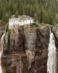 Colorado - This looks like Bridal Veil Falls in Telluride