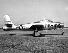 Detailed image of the Republic F-84 Thunderjet / Thunderstreak Fighter ...