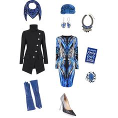 A fashion look from December 2014 featuring Roberto Cavalli dresses, Vivienne Westwood Anglomania coats and Jimmy Choo pumps. Browse and shop related looks.