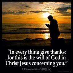 #kjv #thanks #God #Christ #Jesus