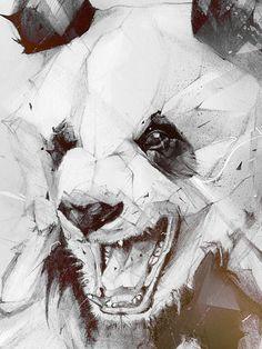 geometric panda drawing - Szukaj w Google