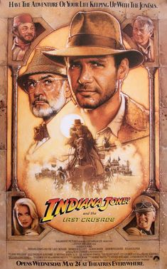 Watch the Indiana Jones And The Last Crusade movie trailer. Directed by Steven Spielberg and starring Harrison Ford, Sean Connery, Denholm Elliott and Alison Doody. The daring archaeologist and his father search for the Holy Grail and fight the Nazis. Indiana Jones Last Crusade, Indiana Jones Adventure, Indiana Jones Films, Harrison Ford Indiana Jones, 80s Movie Posters, Classic Movie Posters, Original Movie Posters, Classic 80s Movies, Vintage Movies