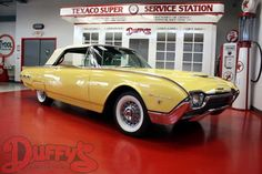 1962 Ford Thunderbird Convertible Yellow Bird