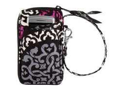 Vera Bradley All In One Wristlet in Canterberry Magenta 10489-149
