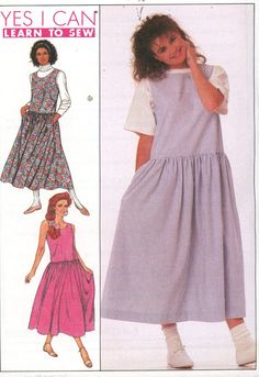Misses' Loose-Fitting Jumper, Multiple  Styles  Simplicity Pattern 9475 Size 10-12-15 UNCUT - Free USA Shipping