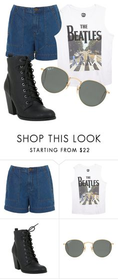 """""""Retro Tee"""" by skater-girl-style on Polyvore featuring Wet Seal and Ray-Ban"""