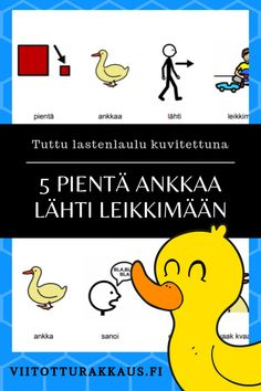 5 pientä ankkaa - Viitottu Rakkaus Kids Study, Winnie The Pooh, Disney Characters, Fictional Characters, Songs, Comics, School, Winnie The Pooh Ears, Cartoons