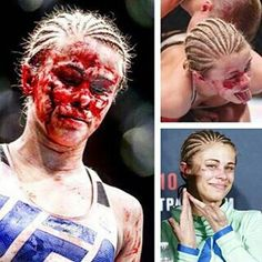 Paige VanZant. Took her first loss like a champ.