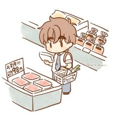 Cardcaptor Sakura, Kero Sakura, Syaoran, Clow Reed, Clear Card, Anime, Cute Drawings, Cute Art, Chibi