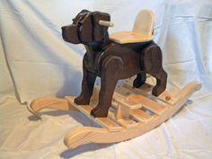 Fabriqués à la main pour enfants de qualité (2-4 ans) Laboratoire de chocolat à bascule chien
