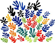 Door ongelukkig noodlot werd Matisse ziek en kwam hij in een rolstoel terecht en zat hij in bed gekluisterd. Uren voor een schildersezel staan ging niet meer en Matisse zocht een nieuwe manier om zijn creatieve expressie te uiten. Vellen papier bestreek hij met verf. Hieruit knipte hij verschillende vormen en deze composeerde hij tot een (voor hem) mooi geheel. Hierna plakte hij ze vast en zijn nieuwe manier van kunstmaken was geboren. Matisse schilderde met schaar en lijm. T/m 16 augustus…