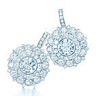Tiffany floral earrings with rose-cut diamonds in platinum Diamond Girl, Rose Cut Diamond, Tiffany And Co, Tiffany Blue, Tiffany Jewelry, Tiffany Earrings, Perfume, Crown Jewels, Diamond Are A Girls Best Friend