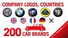 200 Car brands (A-Z), Company logos, Countries Lotus, Logo Samples, Car Logos, Car Brands, Countries, Company Logo, Artwork, Lotus Flower, Work Of Art