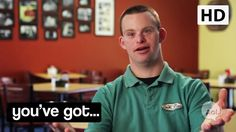 a man who has Down's syndrome successfully runs his own restaurant--the happiest restaurant in the world