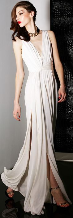 Jason Wu cream colored gown is gorgeous. Beautifully draped.