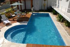 Small Inground Pool, Small Pools, Cool Swimming Pools, Cool Pools, Awesome Pools, Outdoor Pool, Outdoor Spaces, Outdoor Decor, Spas